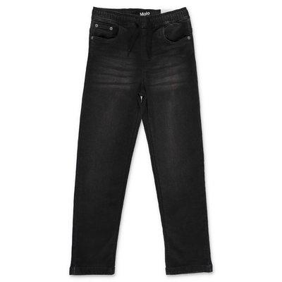 MOLO jeans nero Augustino in cotone denim stretch