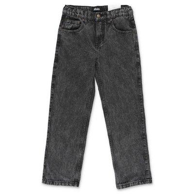 MOLO jeans neri Andy in denim di cotone stretch effetto Vintage