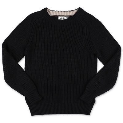 MOLO pullover nero Bosse in maglia di cotone