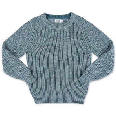 MOLO pullover azzurro Bosse in maglia di cotone organico