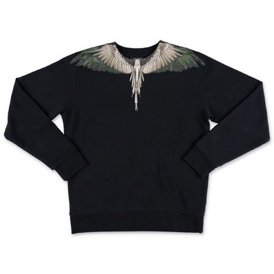 Marcelo Burlon black cotton ''Wings'' sweatshirt