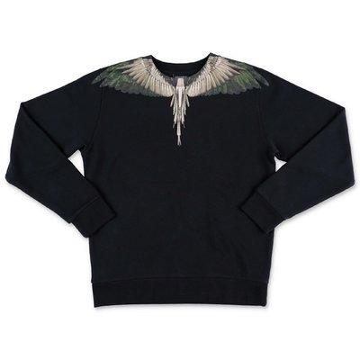 Marcelo Burlon black cotton ''Wings'' sweatshirt
