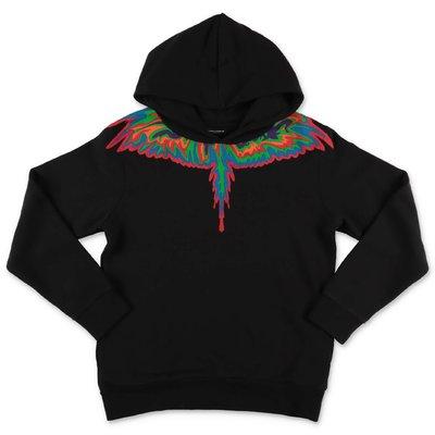 Marcelo Burlon black cotton hoodie