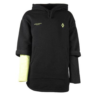 Black cotton sweatshirt hoodie