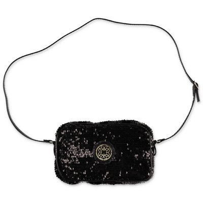 Elie Saab black sequin detail bag