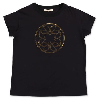 Elie Saab black cotton jersey t-shirt