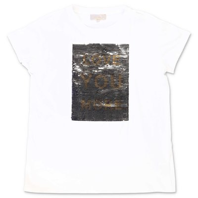 ELIE SAAB white cotton jersey t-shirt