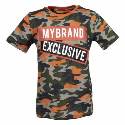 Camouflage cotton jersey t-shirt