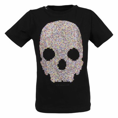 Black Skull cotton jersey t-shirt