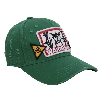 MY BRAND green cotton canvas vintage effect baseball cap