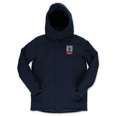 North Sails Prada navy blue recycled polyester jacket with hood