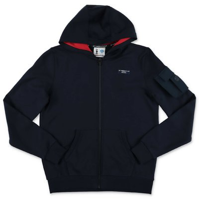 North Sails Prada felpa blu navy in cotone con cappuccio