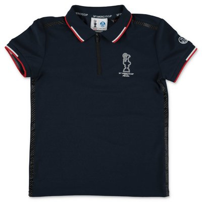 North Sails Prada polo blu navy in piquet