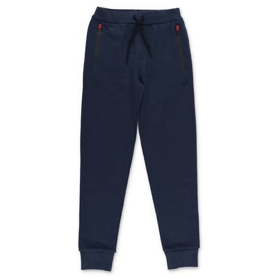 North Sails Prada pantaloni blu navy in felpa di cotone