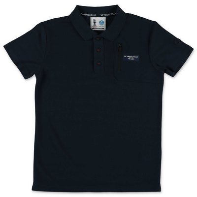 Prada navy blue piquet polo shirt