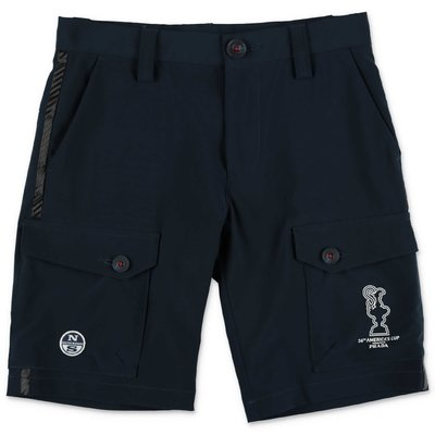 North Sails Prada navy blue nylon shorts