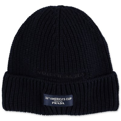 North Sails Prada dark blue wool knit cap
