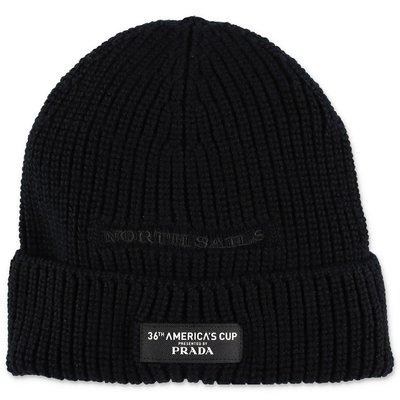 North Sails Prada berretto nero in maglia di lana
