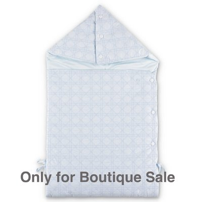 Baby Dior light blue padded cotton sleeping bag