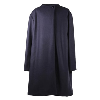 Lanvin blue virgin wool cloth & cashmere coat