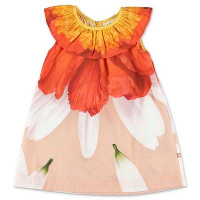 MOLO abito multicolor Ciera in popeline di cotone