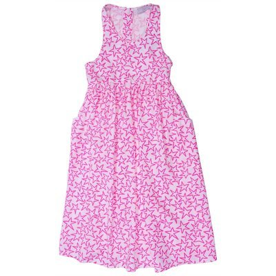 White and fuchsia viscose dress