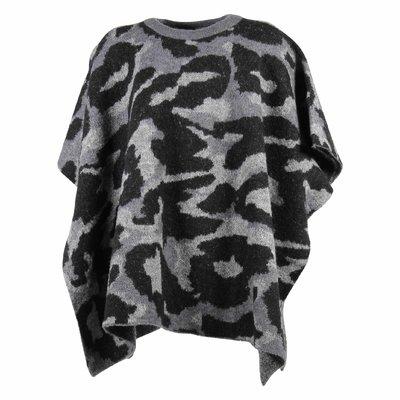 Mantella intarsio camouflage in misto lana