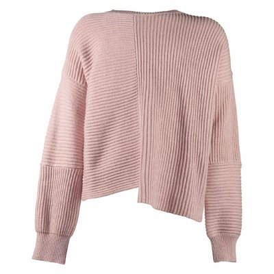 Pink cotton and wool knit jumper