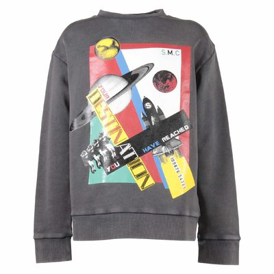 Space Ship dark grey cotton sweatshirt