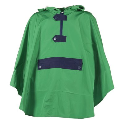 Green nylon hooded resistant jacket