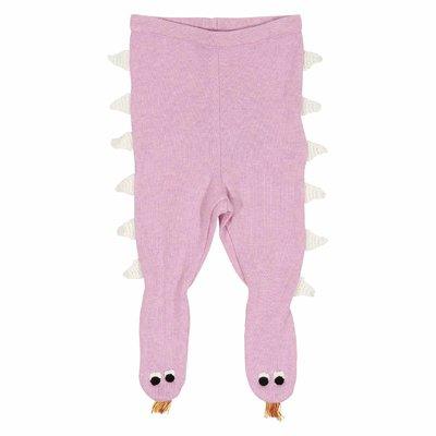 Pink cotton wool leggings