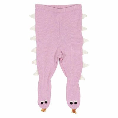 Pink cotton wool leggings