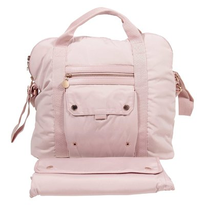 Pink nylon changing bag