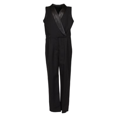 Black cool wool jumpsuit