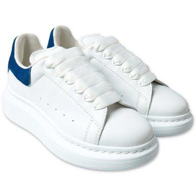 Alexander McQueen sneakers bianche in pelle con lacci