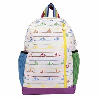 White logo detail nylon backpack