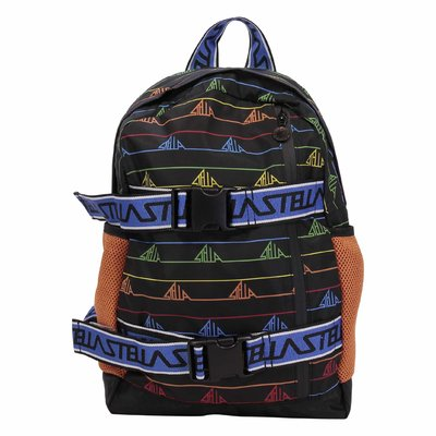 Stella McCartney black logo detail nylon backpack