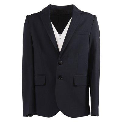 Navy blue cool wool blazer