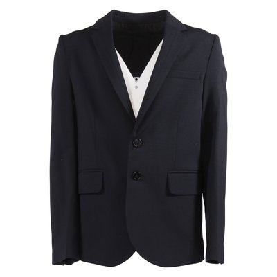 Navy blue cool wool blazer