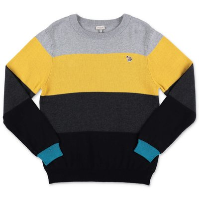 Paul Smith color blocking cotton & cashmere knit jumper