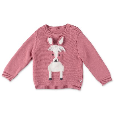 Stella McCartney Horse pink cotton & wool knit jumper