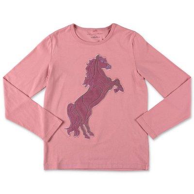 Stella McCartney pink ''Horse'' cotton jersey t-shirt