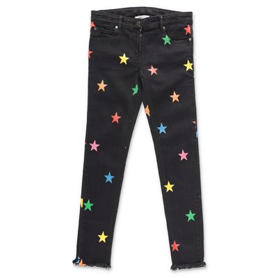 Stella McCartney jeans ''Star'' neri in denim di cotone stretch