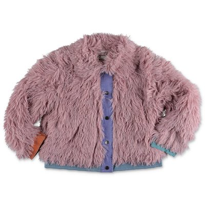 Stella McCartney powder pink faux fur jacket