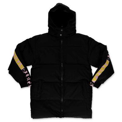 Stella McCartney black nylon hooded down jacket