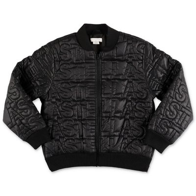 Stella McCartney black quilted nylon down jacket