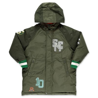 Stella McCartney military green nylon jacket with hood