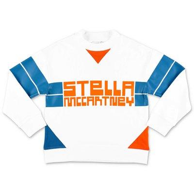 Stella McCartney felpa bianca in cotone