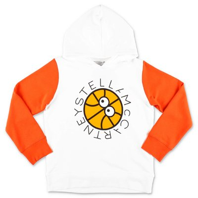 Stella McCartney white cotton hoodie