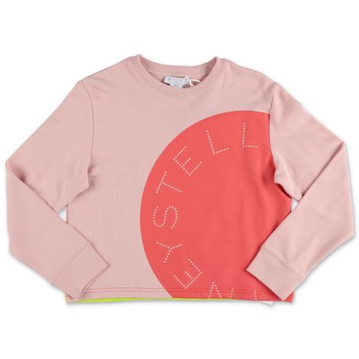 Stella McCartney felpa rosa in cotone